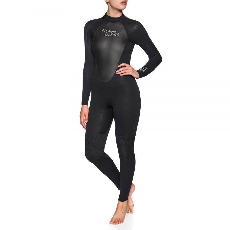 ファッションなデザイン ビラボン Billabong レディース ウェットスーツ 水着・ビーチウェア launch 4/3mm back zip wetsuit Black, スワンアンティークス bd75cadd