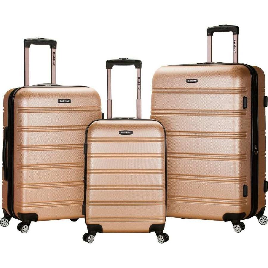 ロックランドラッゲージ Rockland Luggage メンズ スーツケース・キャリーバッグ バッグ Melbourne 3-Piece Hardside Spinner Luggage Set Champagne/Grey