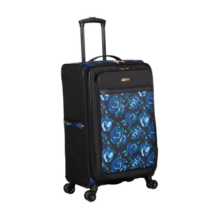 アイザック ミズラヒ Isaac Mizrahi メンズ スーツケース・キャリーバッグ バッグ Irwin 2 29' Expandable Checked Spinner Luggage Blue Floral