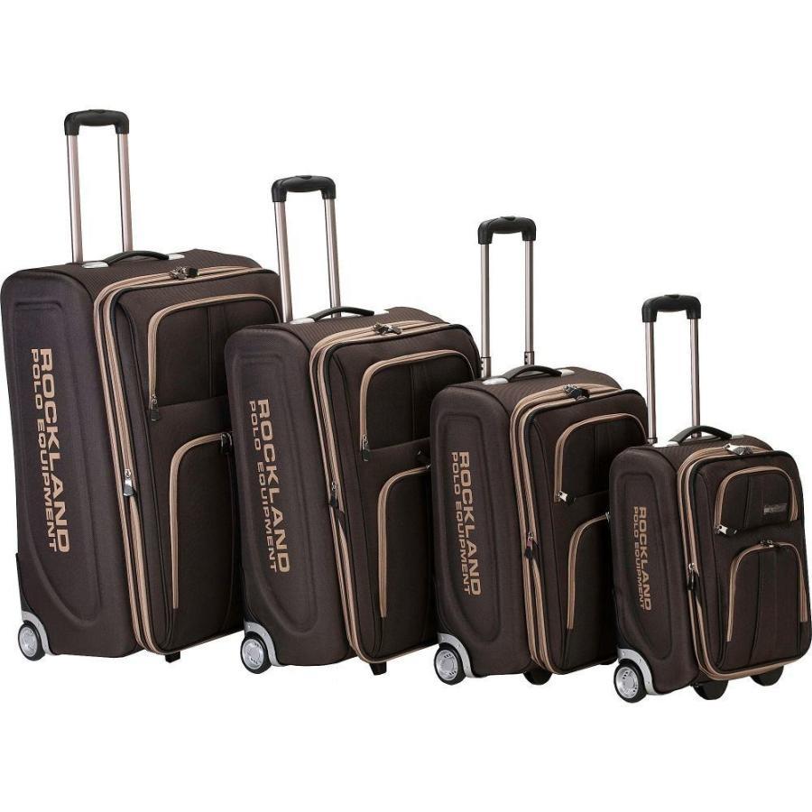 ロックランドラッゲージ Rockland Luggage メンズ スーツケース・キャリーバッグ バッグ Polo Equipment 4 Piece Luggage Set Brown