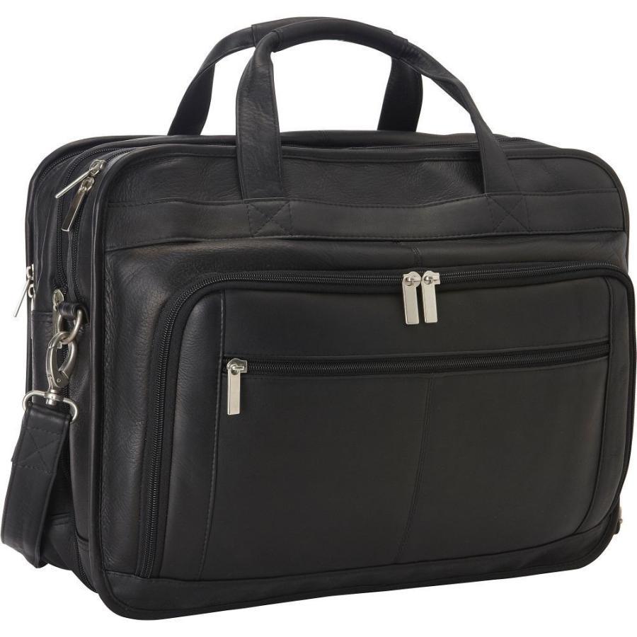 春早割 ルドンレザー Le バッグ Donne Leather Black Laptop メンズ パソコンバッグ バッグ Oversized Laptop Brief Black, 野田町:3ae88356 --- grafis.com.tr