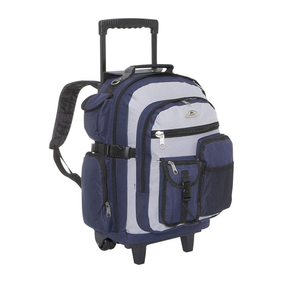 エベレスト デザインズ Everest メンズ スーツケース・キャリーバッグ バッグ Deluxe Wheeled Backpack Navy/Gray/Black