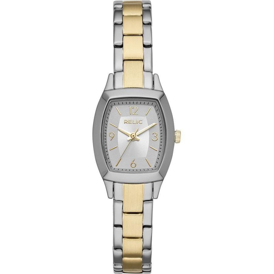 『5年保証』 フォッシル Relic by Fossil レディース 腕時計 Everly Stainless Steel Casual Watch Silver/Gold, 沸騰ブラドン 9e225475