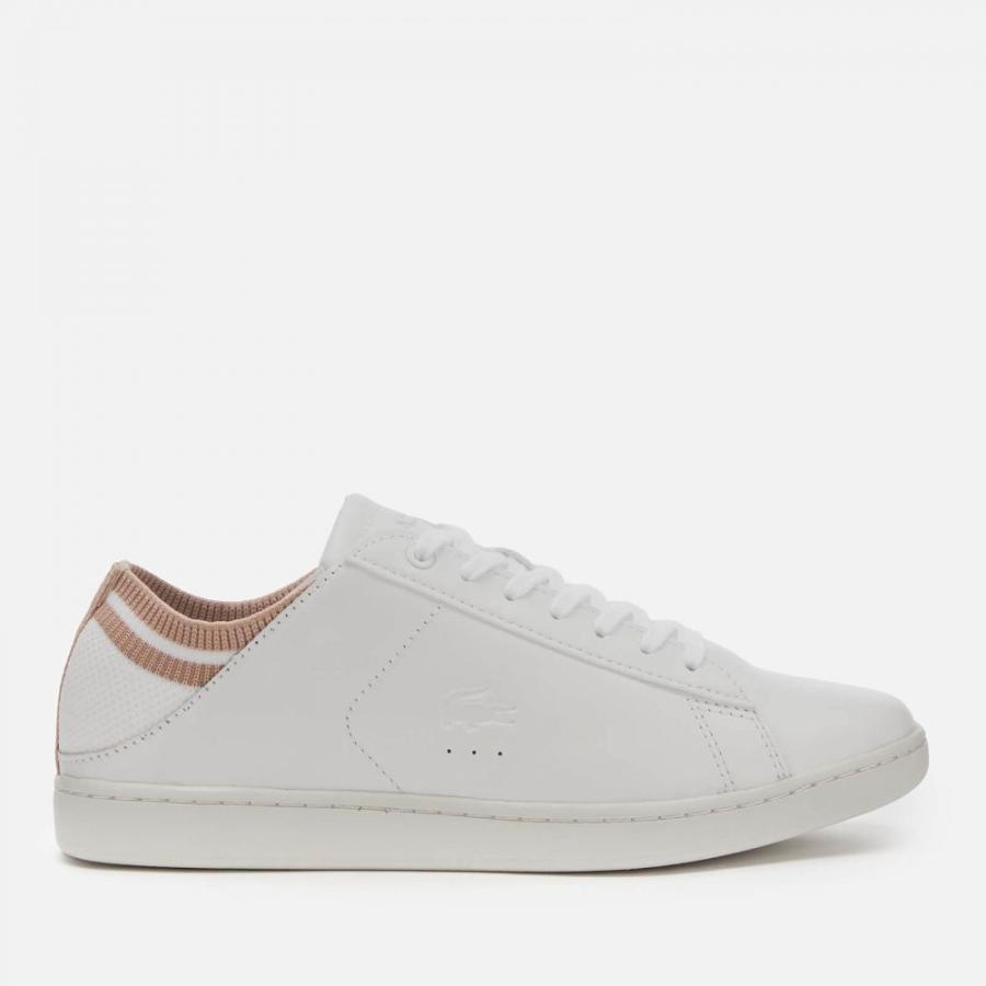 【お年玉セール特価】 ラコステ Lacoste レディース スニーカー シューズ・靴 Carnaby Evo Duo 120 Leather Cupsole Trainers - White/Natural White, マキムラ 43b64530