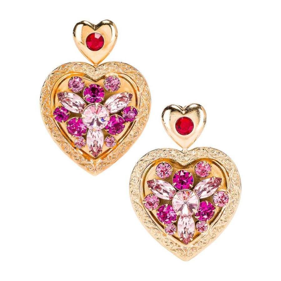 楽天 ロダルテ Rodarte レディース イヤリング・ピアス ジュエリー・アクセサリー Swarovski Crystal Swarovski Crystal Heart Heart Earrings Gold/Pink, ロイヤルスポーツ:82a5c672 --- chizeng.com
