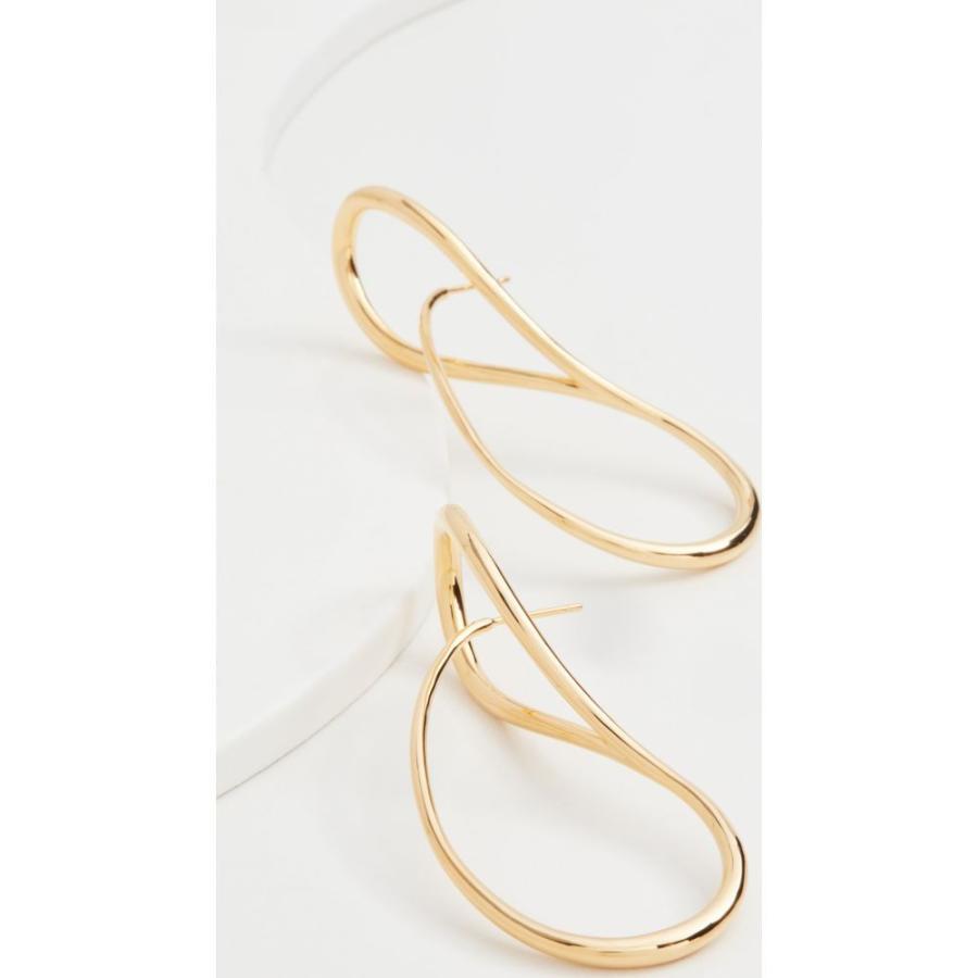 シャルロット シェネ Charlotte Chesnais レディース イヤリング・ピアス フープピアス ジュエリー・アクセサリー Needle Hoop Earrings Yellow Vermeil|fermart