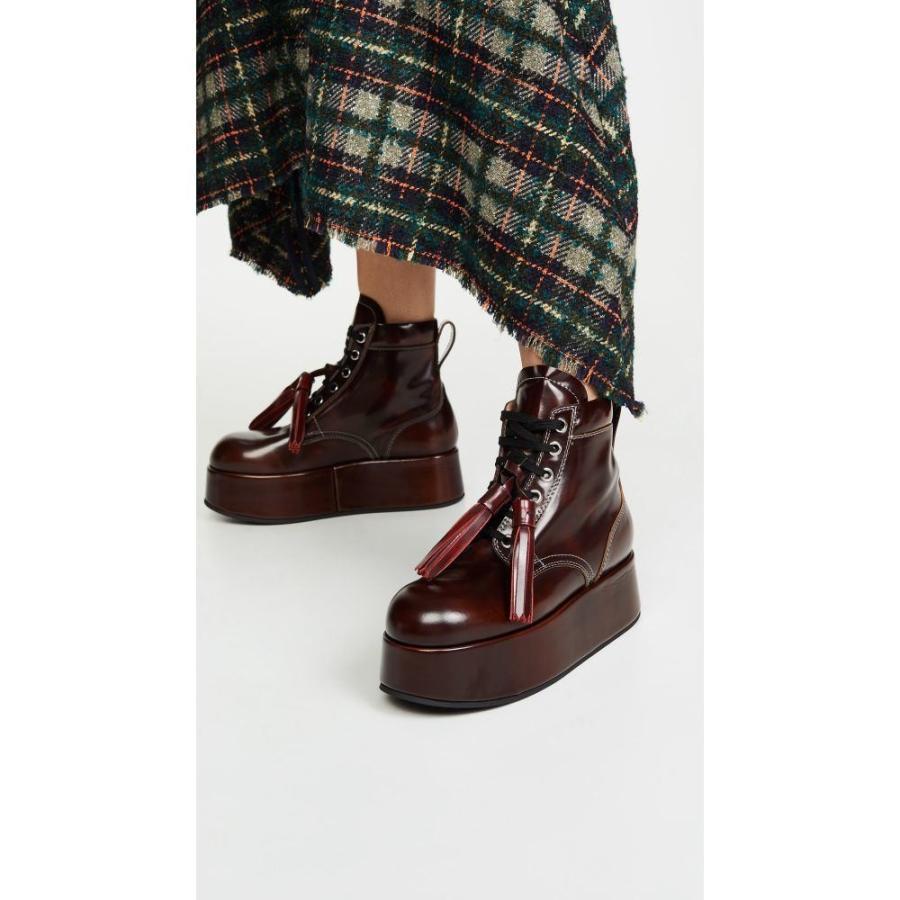独特な マルニ Marni レディース up ブーツ レースアップブーツ シューズ・靴 レディース platform Marni short lace up boots Moka, サイプラスonline shop:09e13122 --- levelprosales.com