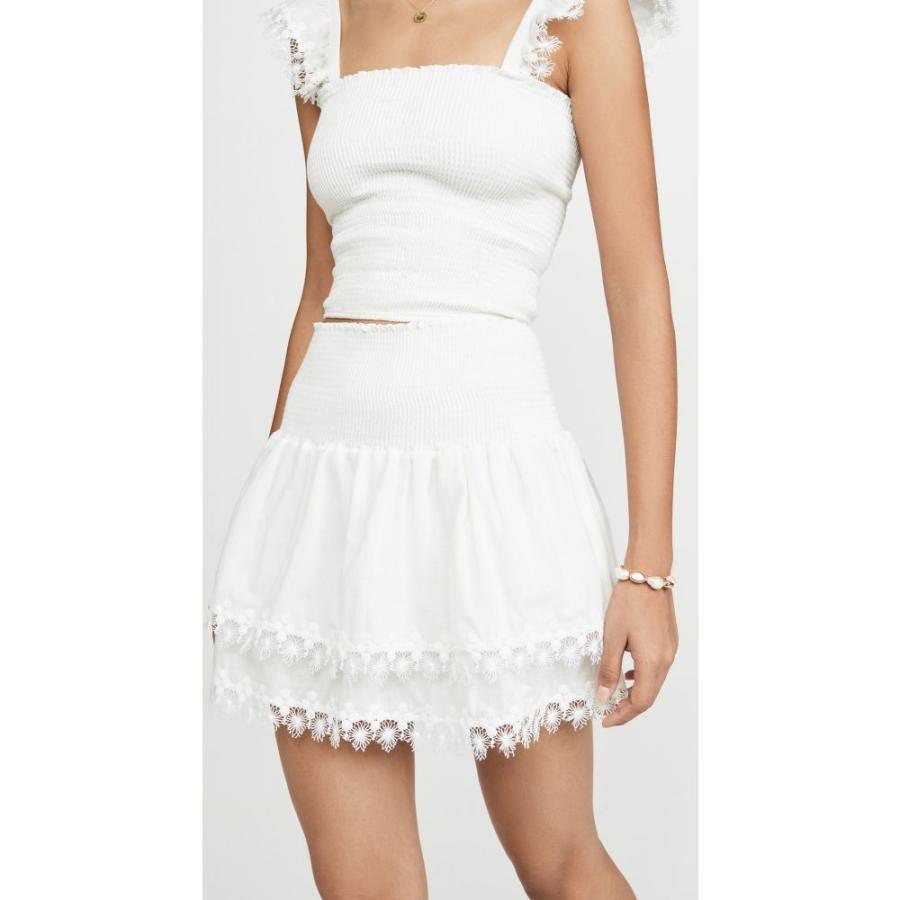 ペイショット Peixoto レディース ビーチウェア ミニスカート 水着・ビーチウェア ruffle miniskirt 白い