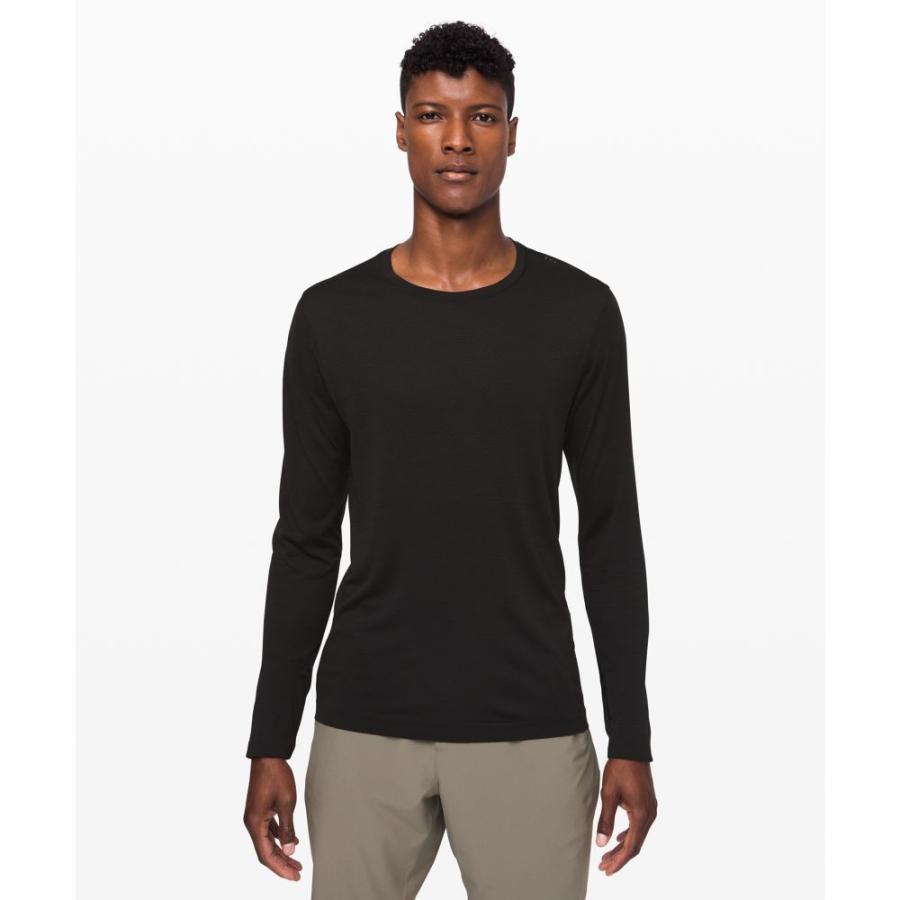 ファッションデザイナー ルルレモン lululemon メンズ フィットネス・トレーニング トップス Metal Vent Breathe Long Sleeve black/black, トライテック 通販部 d9623328