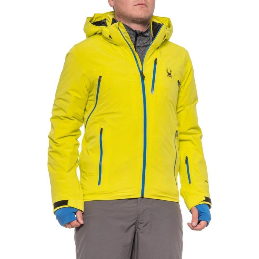 スパイダー Spyder メンズ スキー・スノーボード ジャケット アウター Cordin Gore-Tex PrimaLoft Ski Jacket - Waterproof, Insulated Acid/Turkish Sea