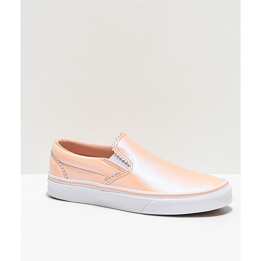 ヴァンズ VANS レディース シューズ・靴 スケートボード Vans Slip-On Pearl Pink & White Suede Skate Shoes Pink