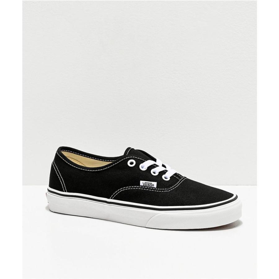 ヴァンズ VANS レディース シューズ・靴 スケートボード Vans Authentic Black and White Canvas Skate Shoes Black