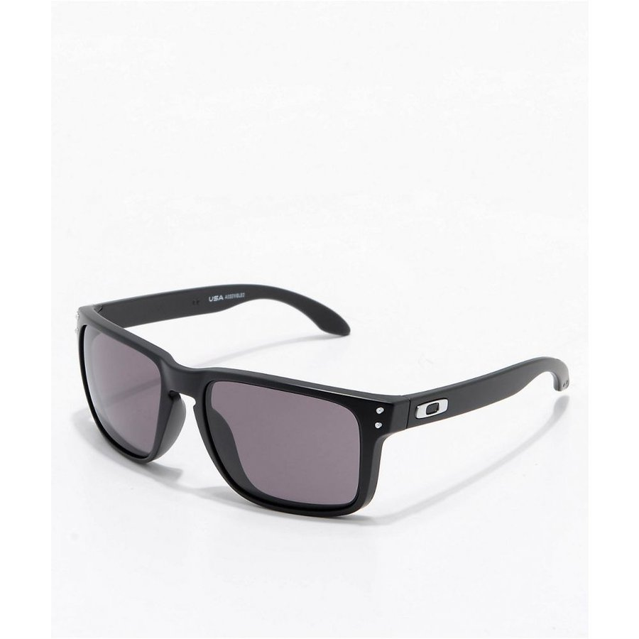 オークリー OAKLEY メンズ スポーツサングラス Oakley Holbrook XL 黒 & Warm グレー Sunglasses 黒