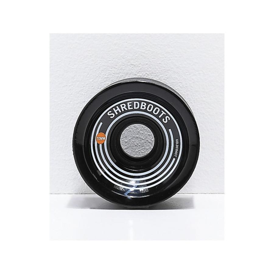 ゴールドコースト ゴールド COAST ユニセックス スケートボード ゴールド Coast Sh赤 Boots Jet 黒 70mm 85a Longboard Wheels Assorted