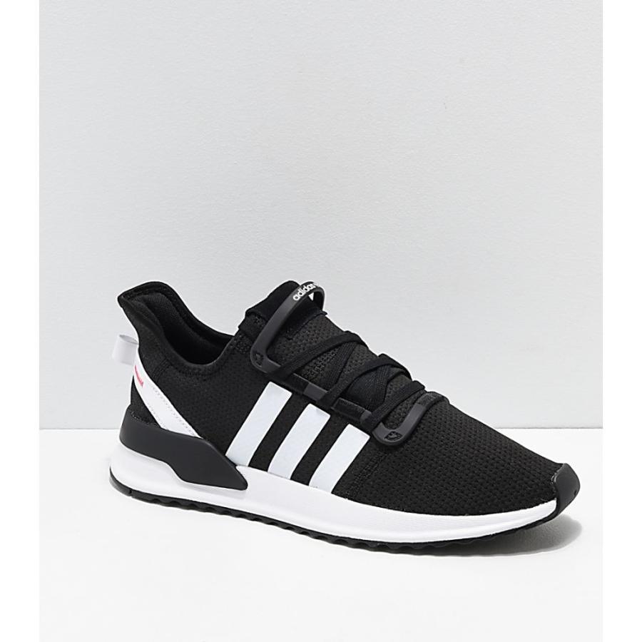 アディダス ADIDAS メンズ シューズ・靴 ランニング・ウォーキング adidas U Path Run Ash 黒 & 白い Shoes 黒