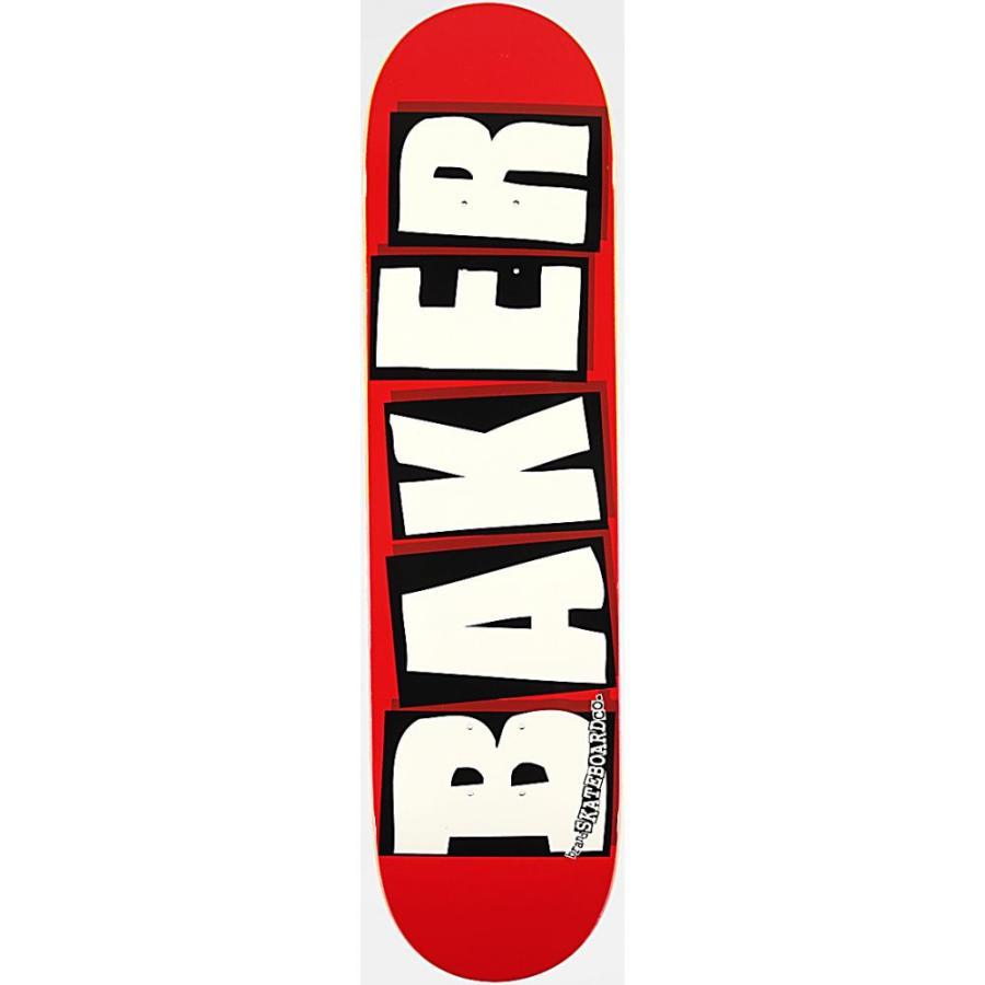 ベイカー BAKER SKATEBOARDS ユニセックス ボード・板 スケートボード Baker Brand Logo White & Red 8.0