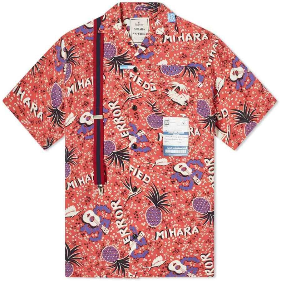 人気カラーの ミハラ ヤスヒロ MIHARA Maison MIHARA YASUHIRO メンズ YASUHIRO 半袖シャツ アロハシャツ トップス メンズ Hawaiian Shirt Red, 紙通販ダイゲン:a67a13c6 --- grafis.com.tr