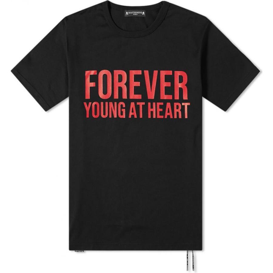 上等な マスターマインド MASTERMIND Tee WORLD メンズ Tシャツ トップス Forever Black Tee MASTERMIND Black, 佐久町:8219e74d --- grafis.com.tr