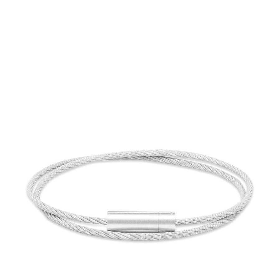 高級感 ルグラム Le Gramme メンズ ブレスレット ジュエリー・アクセサリー Brushed Double Cable Bracelet Silver 9g, BallClub c82396b1