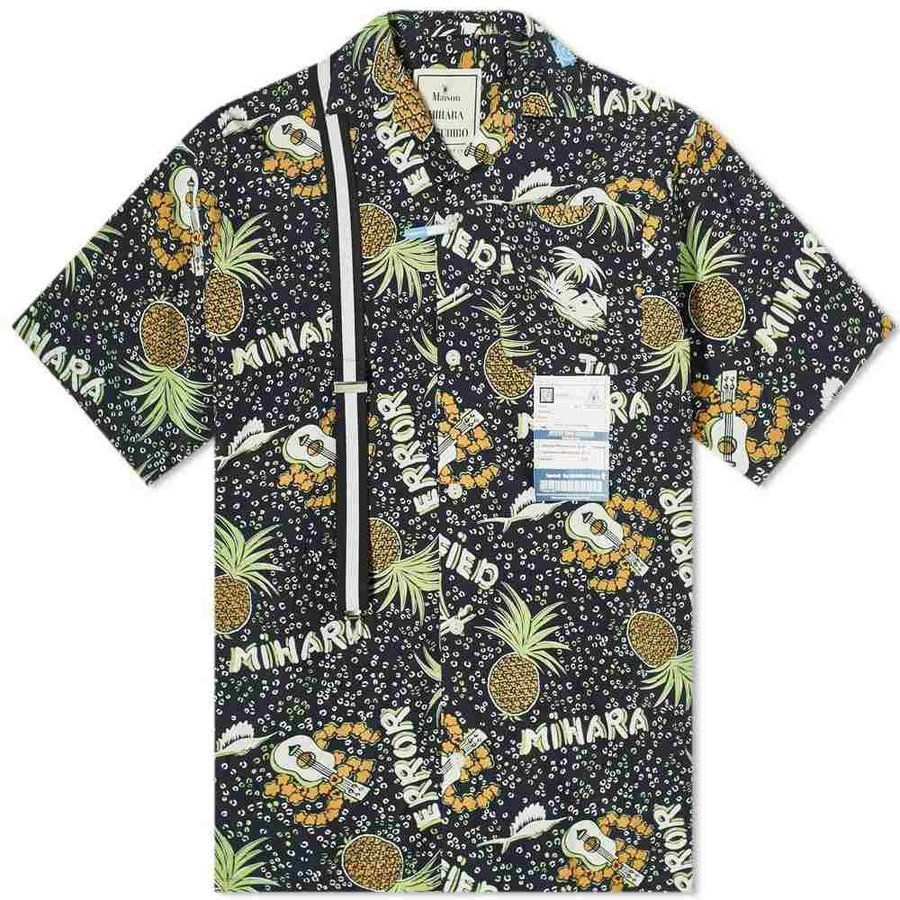 【待望★】 ミハラ ヤスヒロ Hawaiian Maison MIHARA YASUHIRO メンズ ヤスヒロ 半袖シャツ メンズ アロハシャツ トップス Hawaiian Shirt Black, ミンマヤムラ:825fd0b2 --- grafis.com.tr