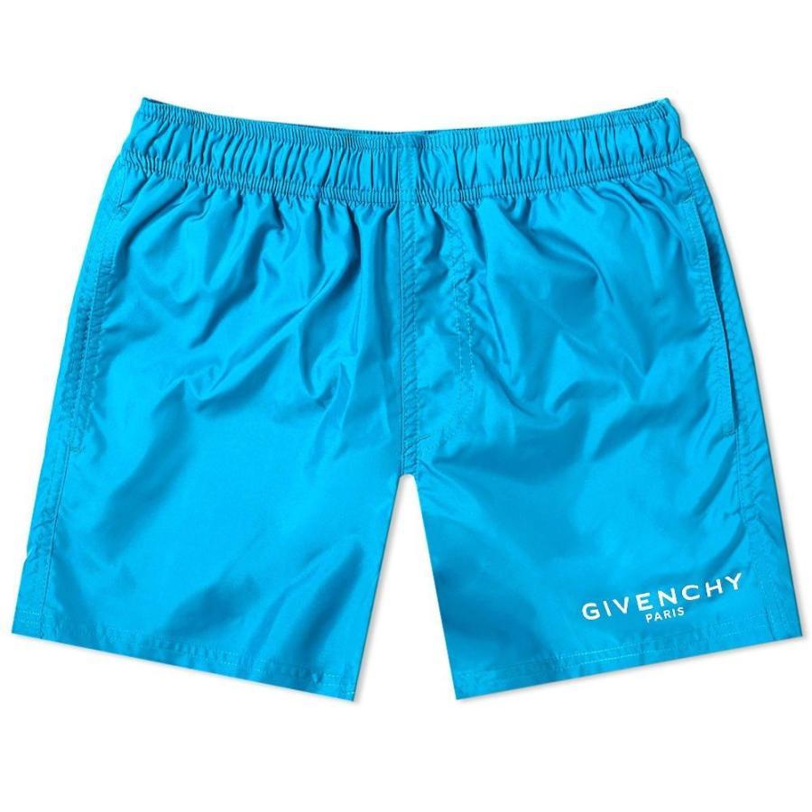 ジバンシー Givenchy メンズ 海パン 水着・ビーチウェア logo short swim short Bright Blue