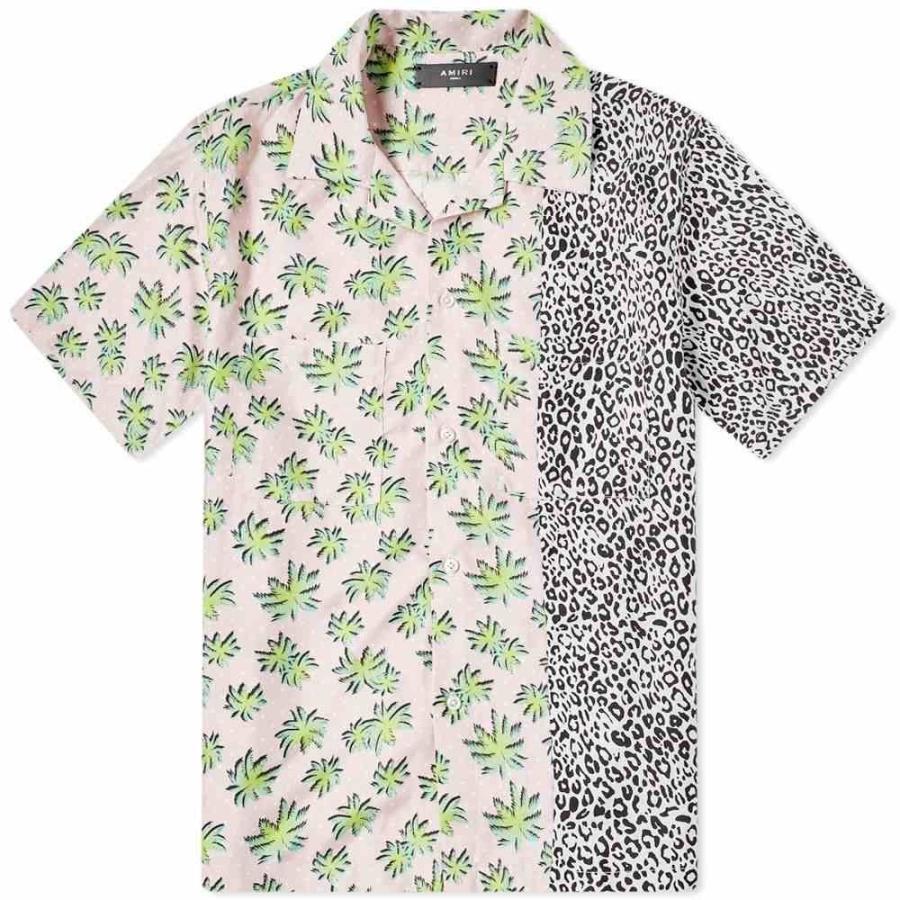 最終値下げ アミリ 半袖シャツ AMIRI メンズ 半袖シャツ トップス short Pink sleeve palm split palm leopard shirt Pink, 世田谷区:14067d31 --- grafis.com.tr