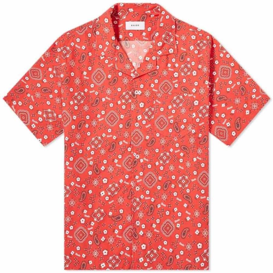 お手頃価格 ルード Rhude メンズ ルード 半袖シャツ アロハシャツ トップス bandana hawaiian トップス shirt Red Red, 関の刃物屋MARUOKUネット:579b7192 --- grafis.com.tr