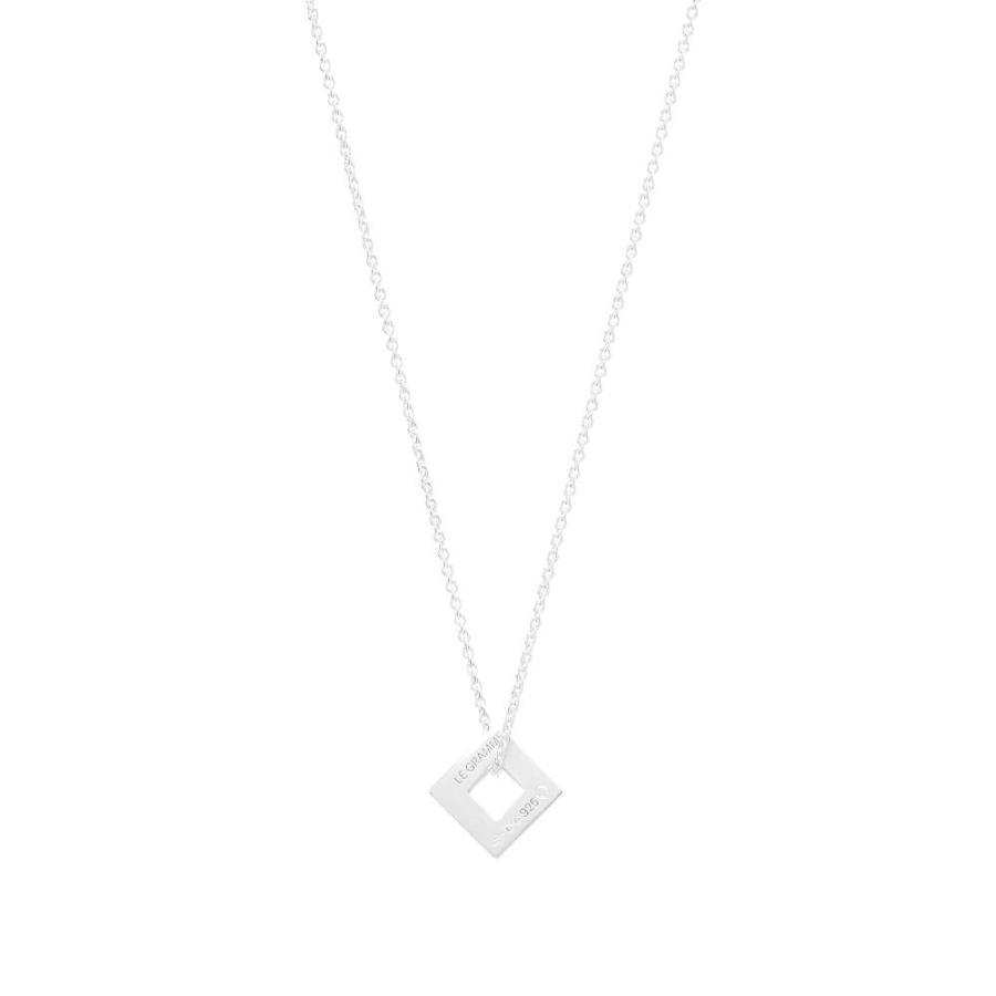 開店祝い ルグラム Le Gramme メンズ ネックレス ジュエリー・アクセサリー Slick Pendant Necklace Silver 1.1g, エービープラス 3d8923ee