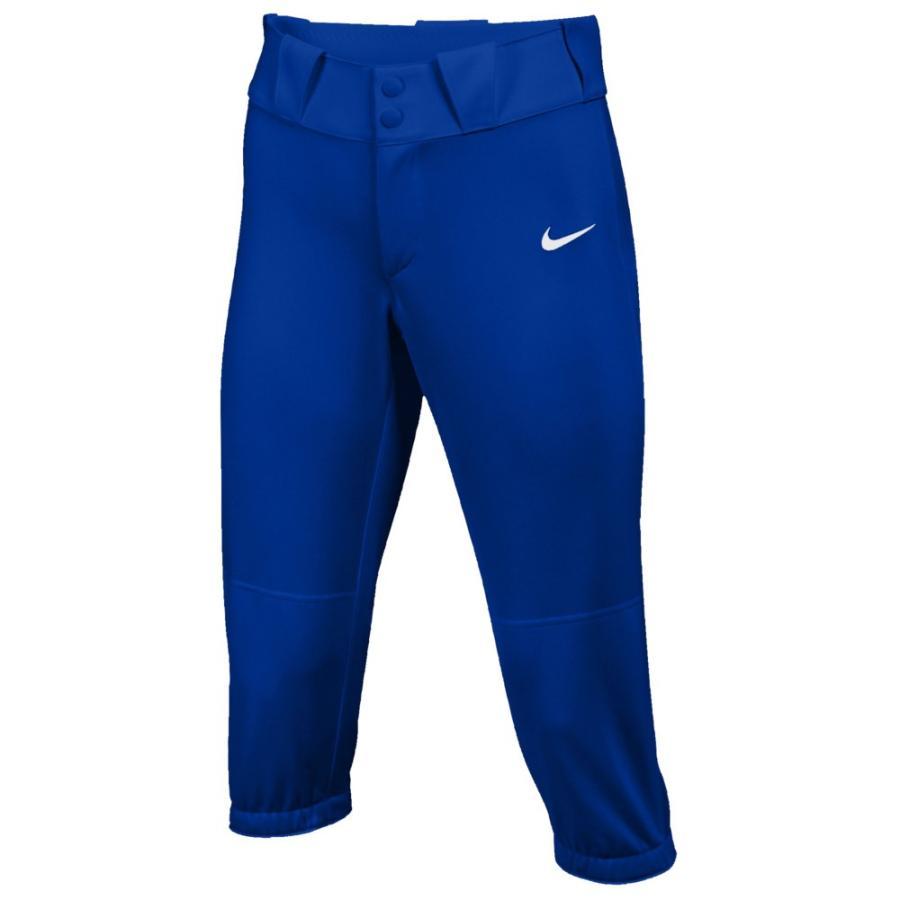 ナイキ Nike レディース 野球 ボトムス・パンツ Team Diamond Invader 3/4 Pants Team Game Royal/白い
