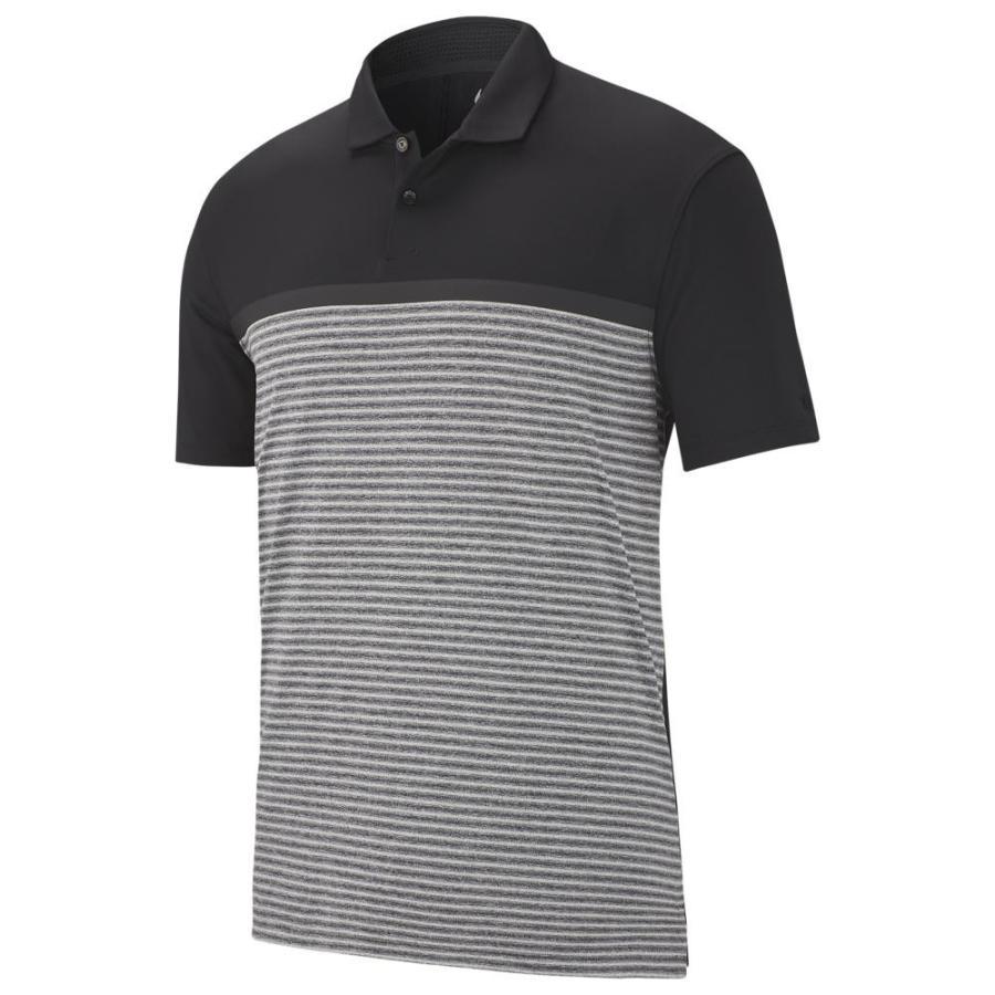 ナイキ Nike メンズ ゴルフ ポロシャツ トップス tw vapor strip block polo 黒/黒 Tiger Woods