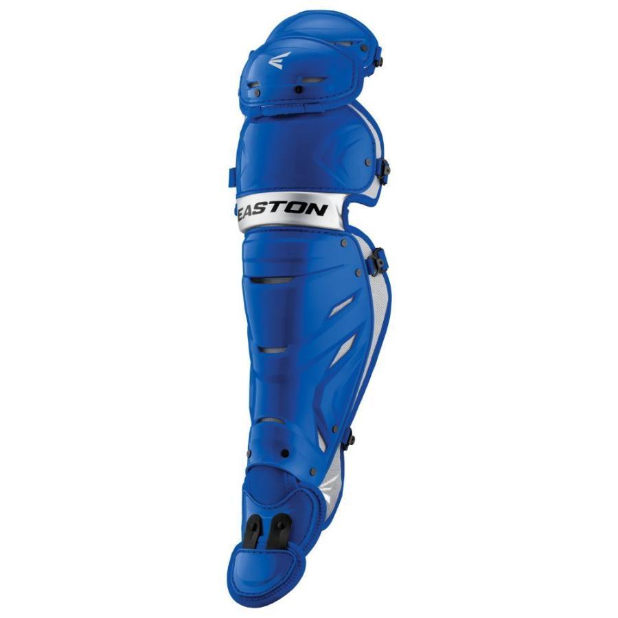 イーストン Easton メンズ 野球 レガーズ プロテクター pro x leg guard Royal/銀