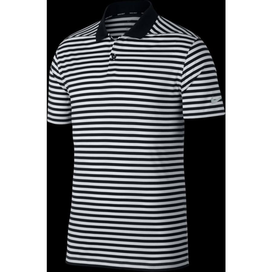 ナイキ Nike メンズ ゴルフ ドライフィット ポロシャツ トップス dri-fit victory stripe golf polo 黒/白い/Cool グレー