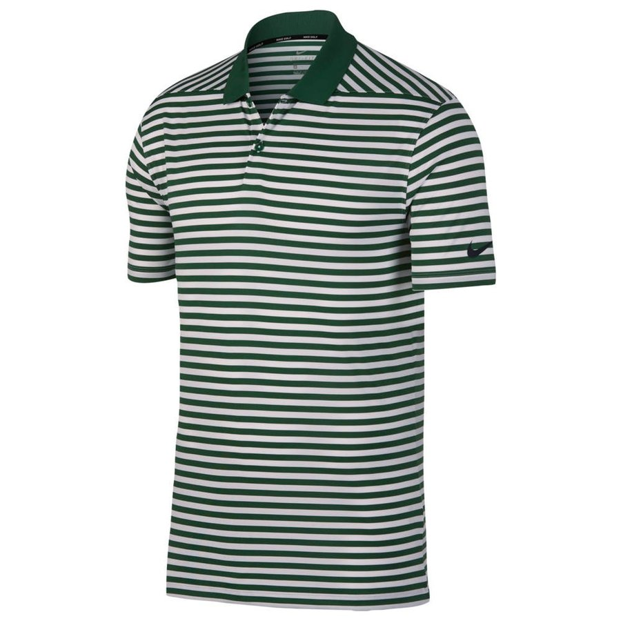 ナイキ Nike メンズ ゴルフ ドライフィット ポロシャツ トップス dri-fit victory stripe golf polo Gorge 緑/白い/黒 Stripe