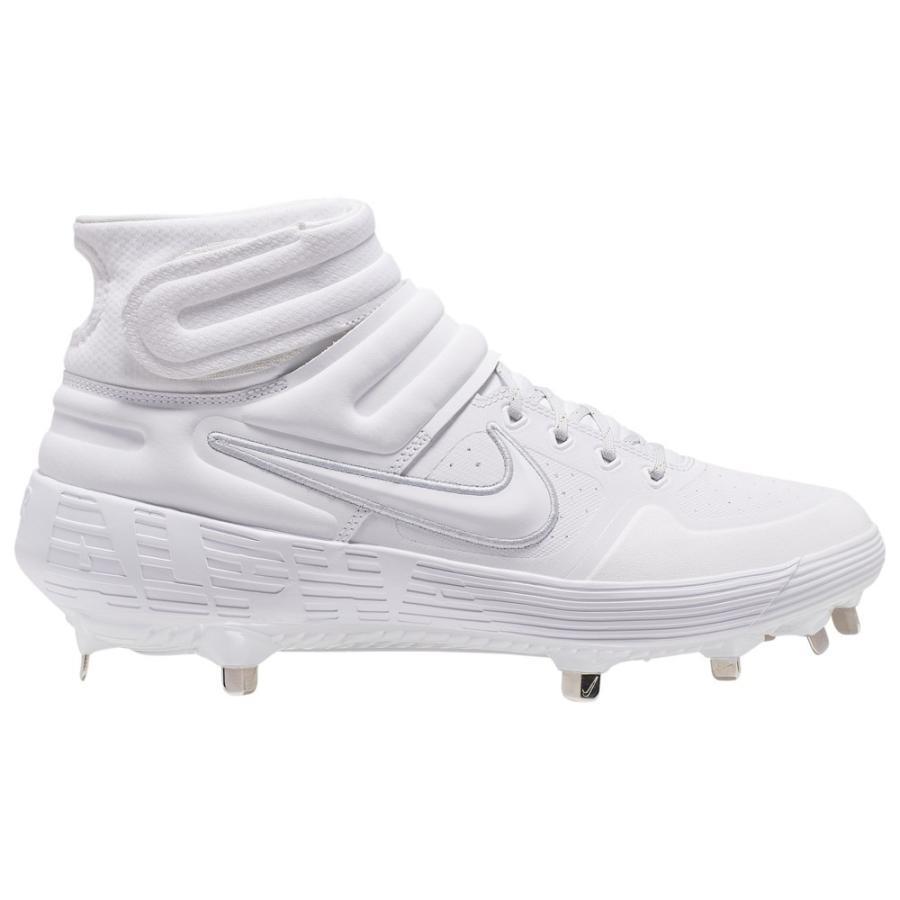 ナイキ Nike メンズ 野球 シューズ・靴 Alpha Huarache Elite 2 Mid 白い/白い/Wolf グレー