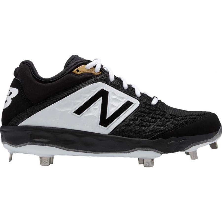 ニューバランス New Balance メンズ 野球 シューズ・靴 3000v4 metal low 黒/白い
