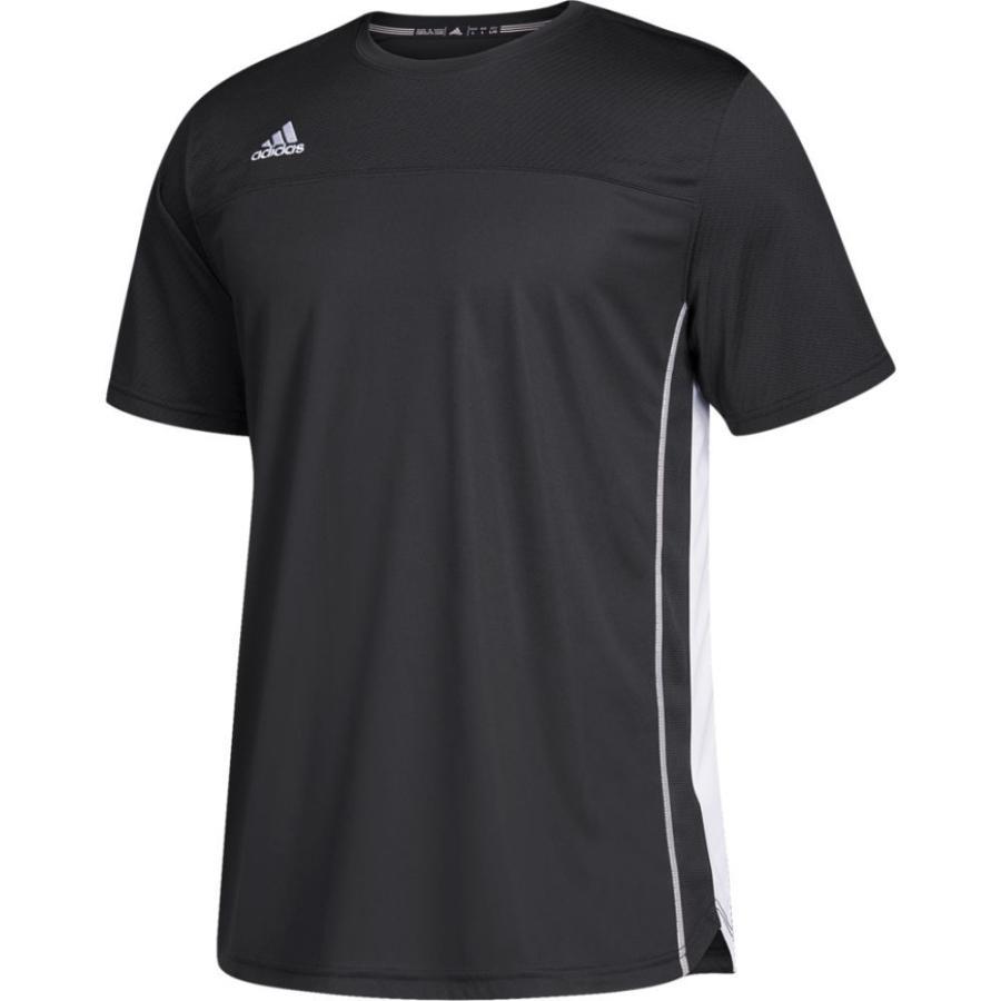 アディダス adidas メンズ サッカー ジャージ トップス utility s/s jersey 黒/白い