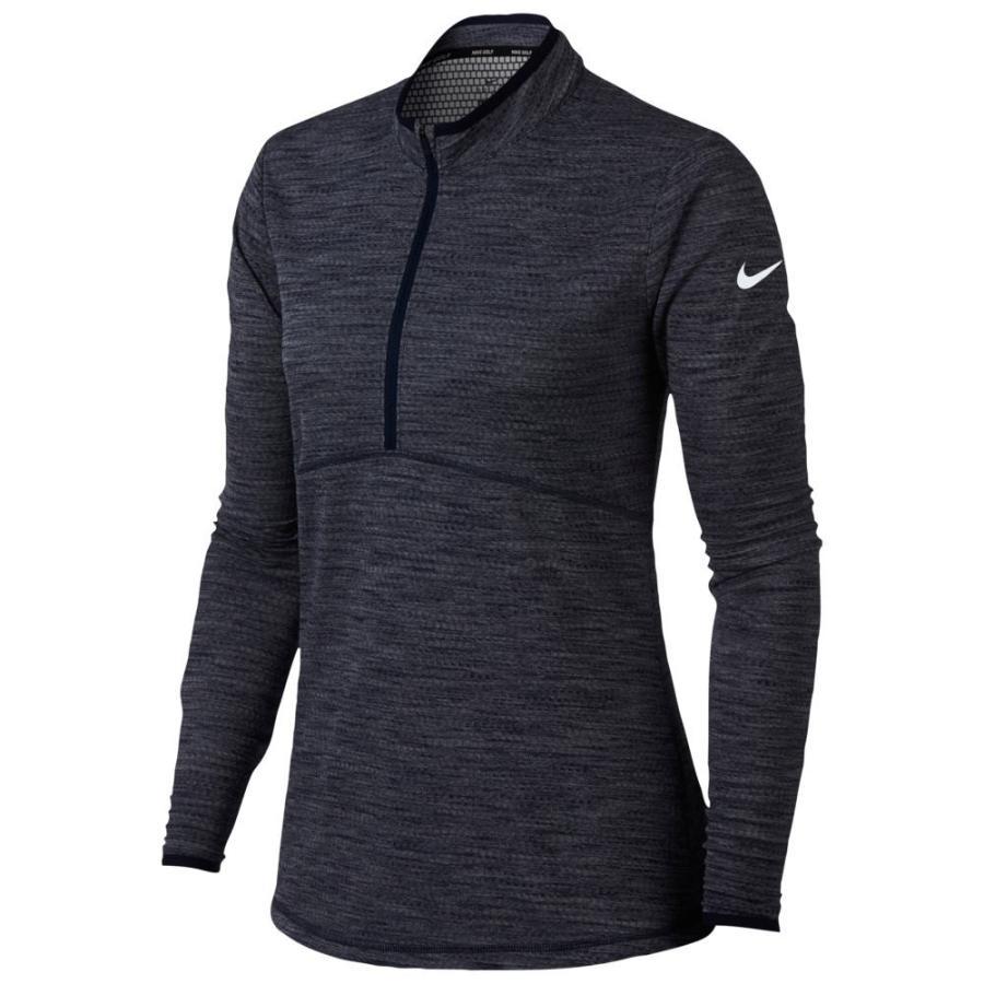 ナイキ Nike レディース ゴルフ ハーフジップ ドライフィット トップス dri-fit 1/2 zip golf cover up College Navy/White