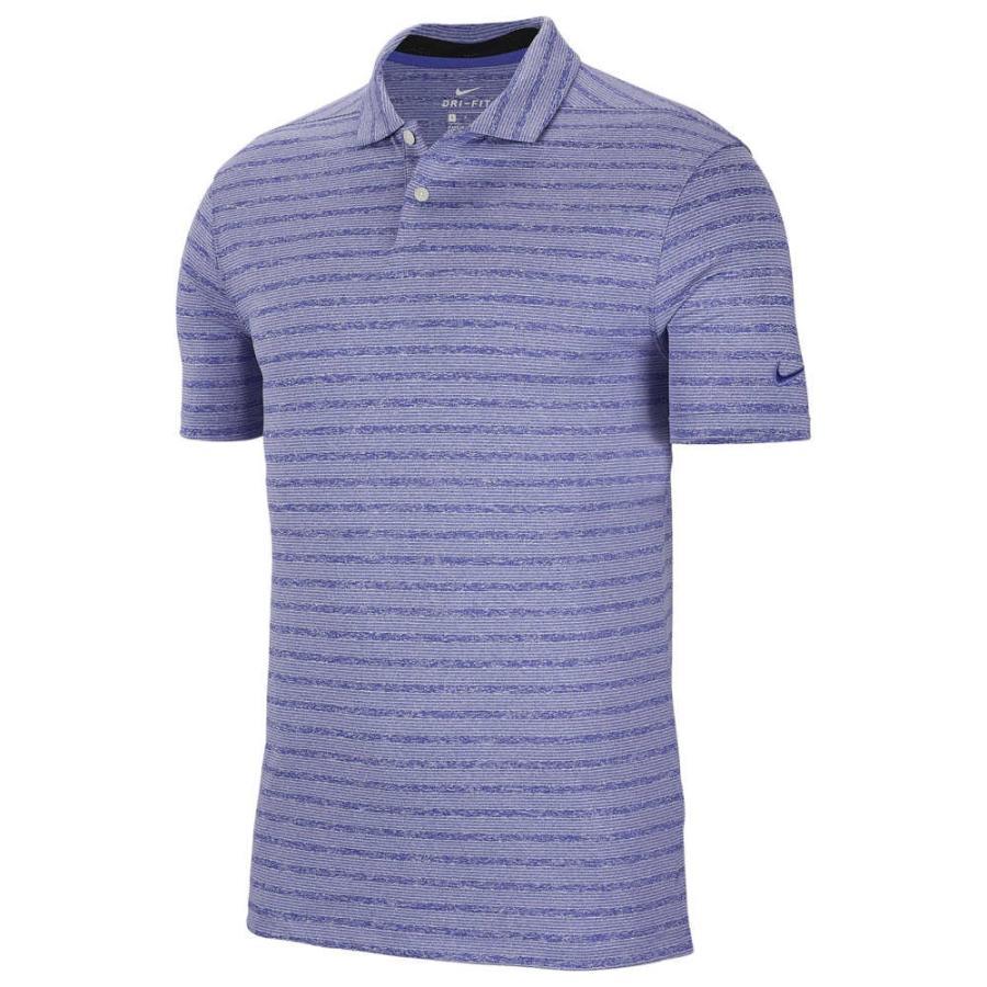 ナイキ Nike メンズ ゴルフ ポロシャツ トップス dry vapor stripe golf polo Rush Violet/Pure Platinum