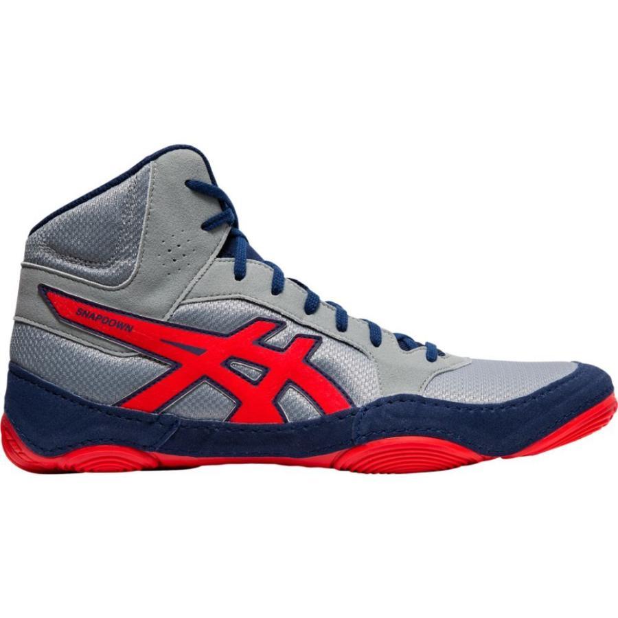アシックス ASICS メンズ レスリング シューズ・靴 Snapdown 2 Stone グレー/Classic 赤