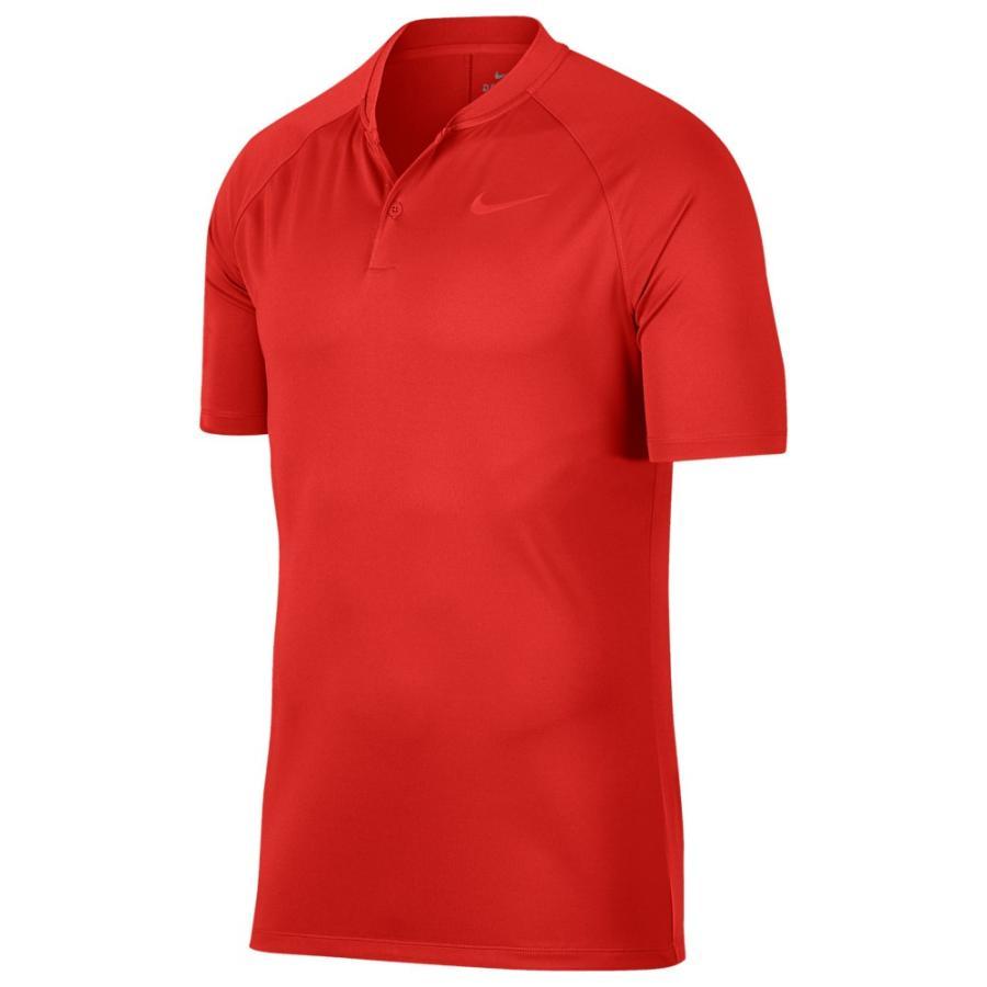 ナイキ Nike メンズ ゴルフ ポロシャツ トップス dry momentum blade golf polo Habanero 赤/Habanero 赤