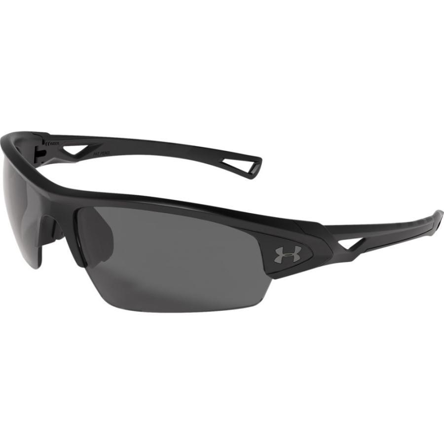 アンダーアーマー Under Armour ユニセックス スポーツサングラス Octane Sunglasses Satin 黒/グレー Lens