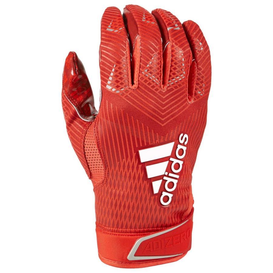 アディダス adidas メンズ アメリカンフットボール レシーバーグローブ グローブ adizero 5-star 8.0 receiver glove 赤/Metallic 銀
