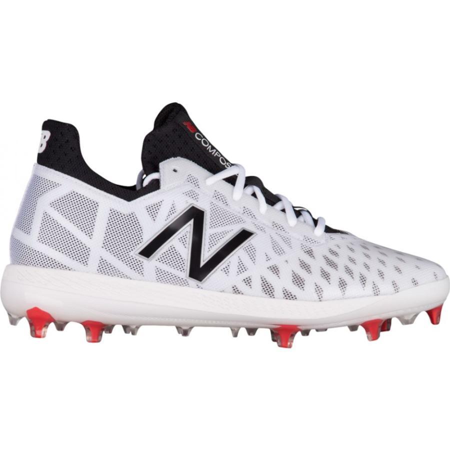 人気ブランドを ニューバランス New Balance メンズ 野球 シューズ・靴 COMPV1 TPU Low White/Black, ケーズブロス f0fc981f