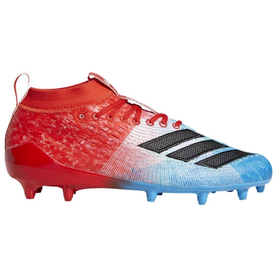 【好評にて期間延長】 アディダス adidas メンズ アメリカンフットボール シューズ・靴 adiZero 8.0 Snowcone Shock Cyan/Core Black/Red, タカギムラ e6f78c47