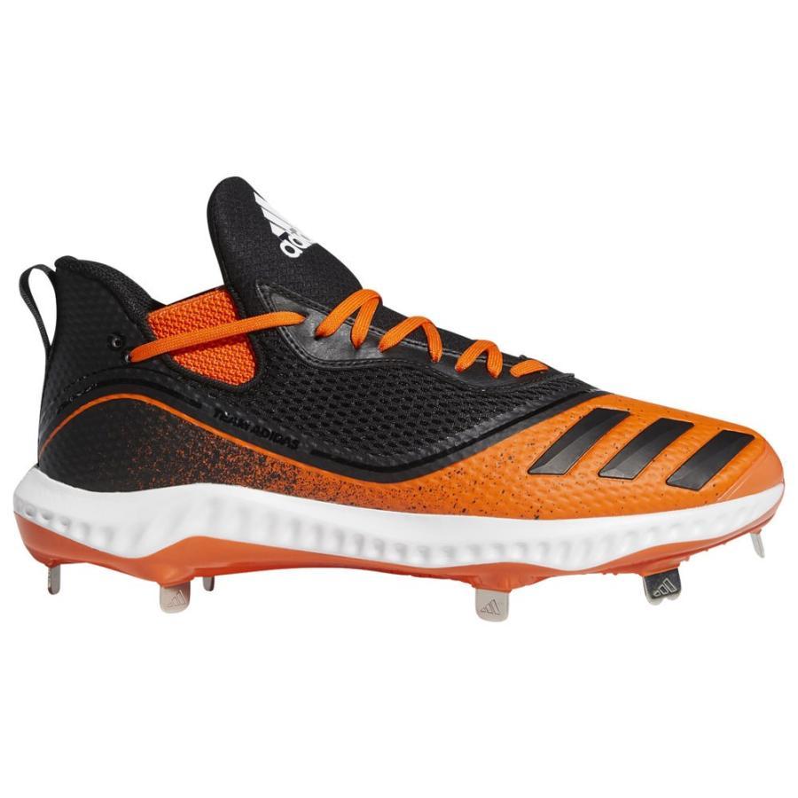 アディダス adidas メンズ 野球 シューズ・靴 Icon V Bounce Low 黒/白い/オレンジ