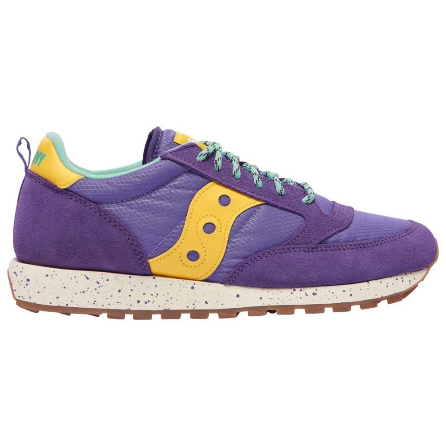 サッカニー Saucony メンズ ランニング・ウォーキング シューズ・靴 Jazz Original 紫の/黄