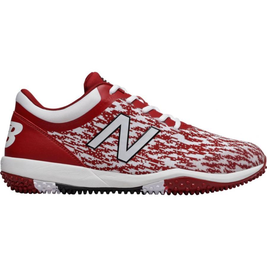 ニューバランス New Balance メンズ 野球 シューズ・靴 4040v5 Turf Maroon/白い