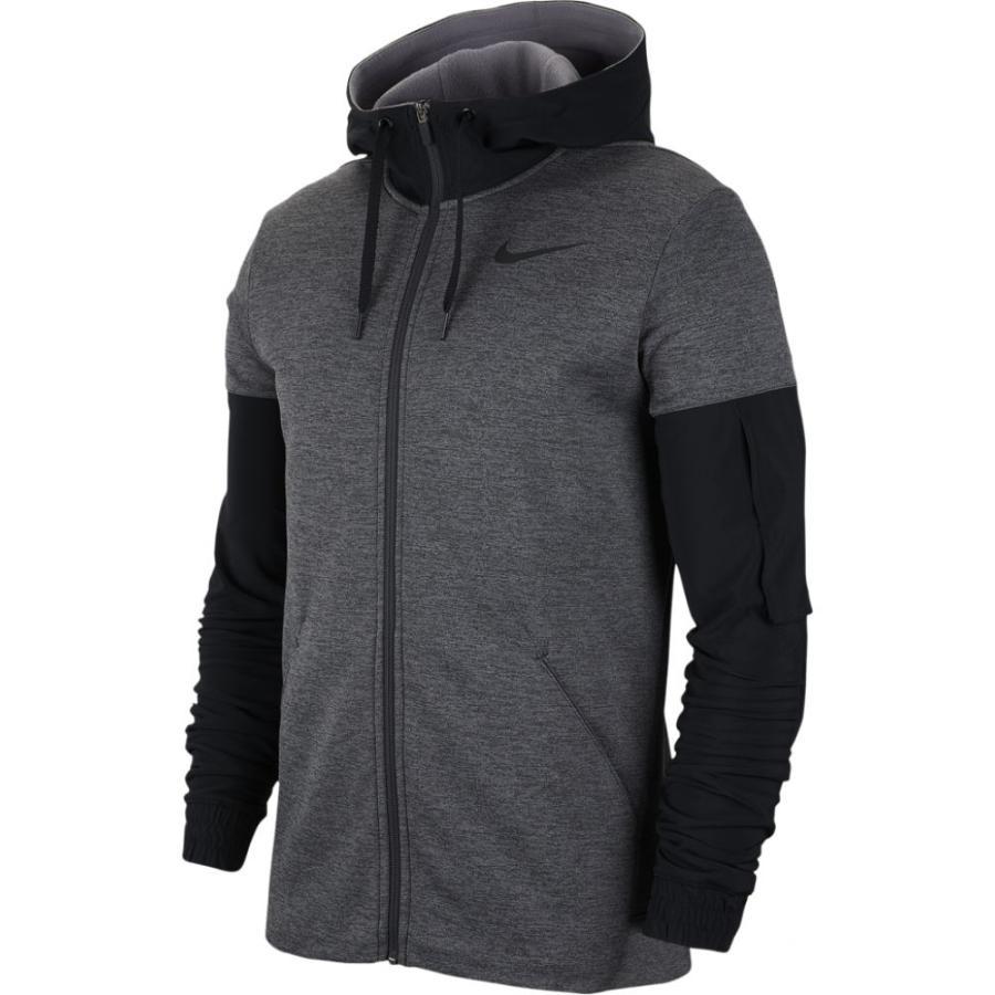 高い品質 ナイキ Nike メンズ フィットネス・トレーニング パーカー トップス Therma Fleece Plus Full Zip Hoodie Charcoal Heather/Black, 質みなみ 5ed893f5