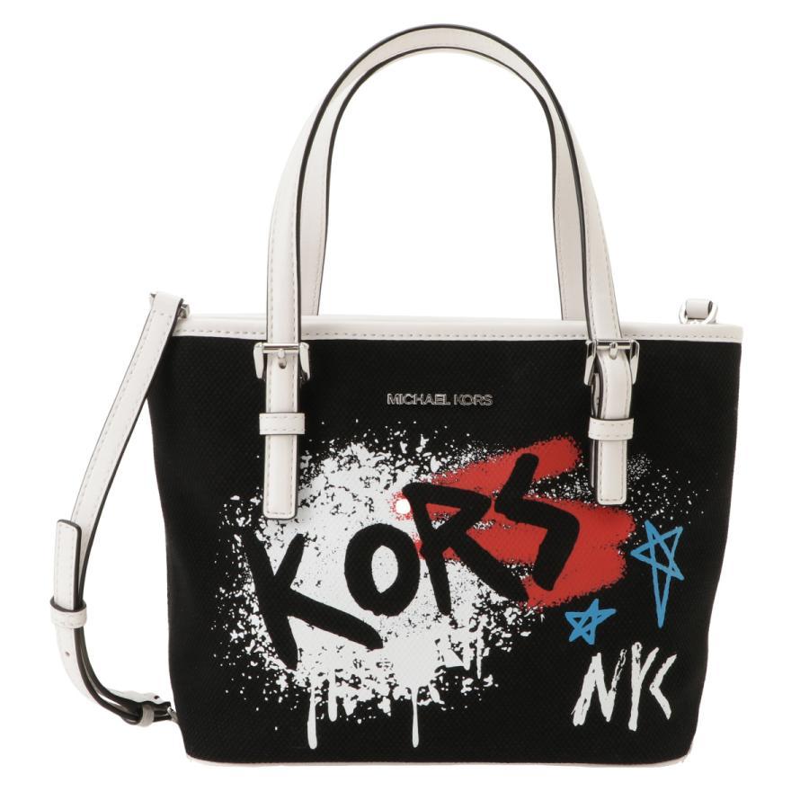 【即納】マイケル コース Michael Kors レディース トートバッグ バッグ 35s0sf7t0r Graffiti Tote BLACK 2WAY ショルダーバッグ グラフィティ|fermart