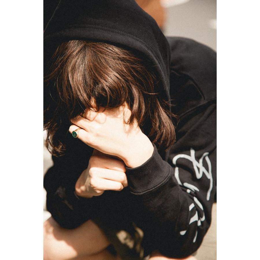 【即納】エンコーデッド ENCODED メンズ パーカー トップス フーディー フード TRIANGLE EMBLEM FZ HOODIE black fermart 04